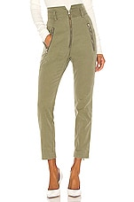 Marissa Webb Josh Canvas Pant in Military Green