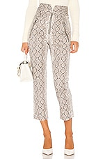 Marissa Webb Josh Print Canvas Pant in White Python