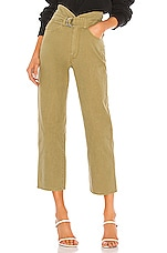 Marissa Webb Travis Heavy Canvas Pant in Khaki Green