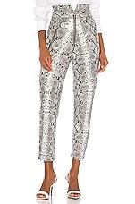 Marissa Webb Josh Leather Print Pant in Grey Python