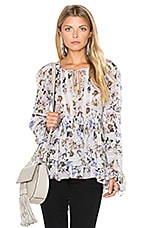 Bella Print Blouse in Lila Grey
