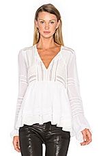Bella Silk Blouse in White