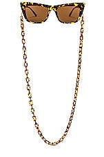 my my my Avery Sunglass Chain in Brown
