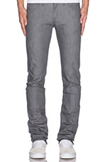 Jean Skinny guy in 12oz Grey Stretch