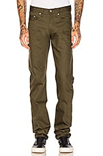 Pantalon Chino Weird guy Selvedge 12oz. en Khaki Green