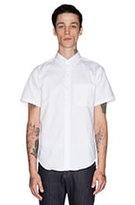 Slim Shirt SS Oxford in White