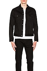 Naked & Famous Denim Denim Jacket Solid Black Selvedge in Black