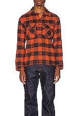 Naked & Famous Denim Work Shirt in Red Slubby Buffalo Check