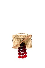 Baby Roge Cascade Red Pompom Bag in Off White