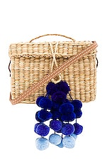 Nannacay x REVOLVE Baby Roge with Pompoms in Natural & Blue