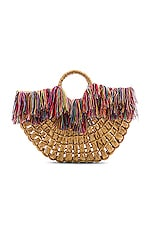 Nannacay Maria Leque Large Bag in Off White & Multi