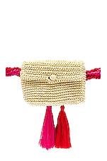Nannacay Mocinha Pochette Belt Bag in Off White, Pink & Red