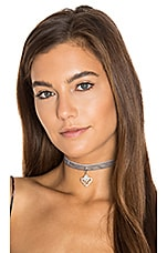 Beatrice Choker in Gray