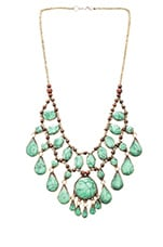 Natalie B Cassidy II Necklace in Green Turquoise