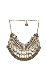 Fit for a Queen Necklace in Brass