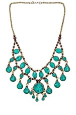 Natalie B Jewelry Casssidy II Necklace in Pacific Green