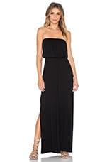 Alicia Strapless Maxi Dress in Black