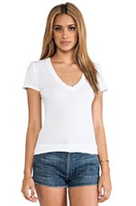 Classic V Neck Tee in White
