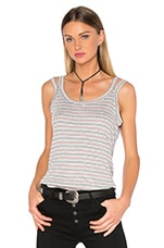 Yesenia Double Strap Tank in Heather Grey