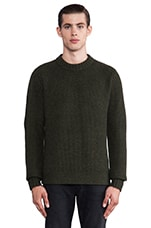 Hive Crew Knit Sweater in Olive