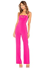 NBD x Naven Rose Jumpsuit in Bright Pink
