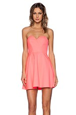 x Naven Twins Disclosure Dress in Electric Peach