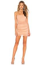 NBD Kerr Embellished Mini Dress in Nude
