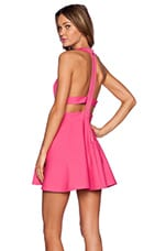 x Naven Twins Te Amo Fit & Flare Dress in Pink
