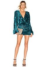 NBD Illusion Mini Dress in Teal