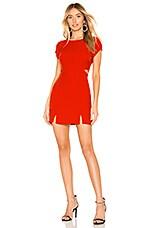 NBD x Naven Violet Dress in Flame Scarlet