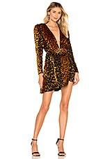 NBD Edie Mini Dress in Natural Leopard