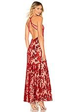 NBD Dusk Til Dawn Gown in Deep Red