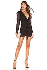 NBD Syd Mini Dress in Black & Fuchsia