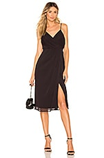 NBD Averie Midi Dress in Black & Fuchsia