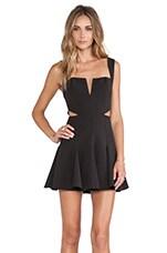 NBD Sway Me Fit & Flare Dress in Black