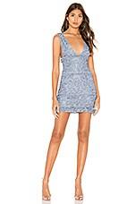 NBD Anyssa Mini Dress in Soft Blue