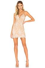 NBD Aubrie Mini Dress in White & Nude