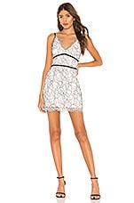 NBD Marissa Mini Dress in White & Black