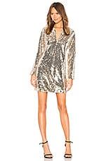 NBD Alibi Sequin Tunic Dress in Gold
