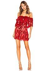 NBD Fern Mini Dress in Deep Red