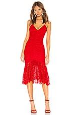 NBD Roxy Midi Dress in Cherry Red