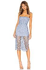 NBD Fallon Midi Dress in Soft Blue