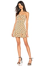 NBD x Naven Lauren Dress in Nude Polka Dot