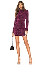 NBD Lennon Mini Dress in Magenta & Black