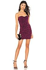 NBD Lynx Mini Dress in Magenta & Black