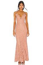 NBD Gallion Gown in Peach Beige