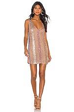 NBD Mosaic Mini Dress in Nude