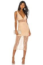 NBD Libra Midi Dress in Nude Pink
