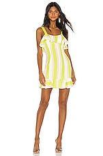 NBD Lucia Mini Dress in Lime & Ivory