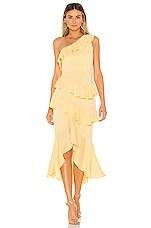 NBD Ambrosia Midi Dress in Cream Yellow